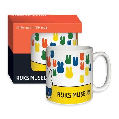 'Miffy' mug - These 'Miffy' mugs feature a design exclusive to the Rijksmuseum depicting Dick Bruna's rabbit Miffy.