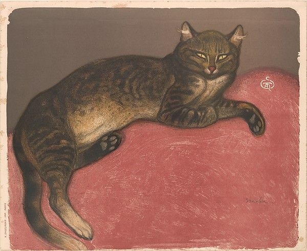 Théophile-Alexandre Steinlen (French 1859–1923). Winter: Cat on a Cushion. The Metropolitan Museum of Art, New York. The Elisha Whittelsey Collection, The Elisha Whittelsey Fund, 1950 (50.616.9).