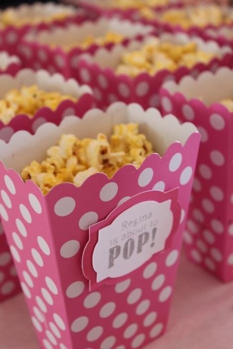 Sugar and Spice baby shower - cinnamon popcorn would make more sense