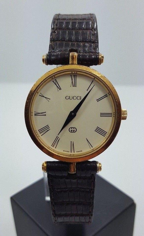 f4d8c1cf3ba Vintage Beautiful Authentic GUCCI Unisex 2000m Stack Quartz Watch ...