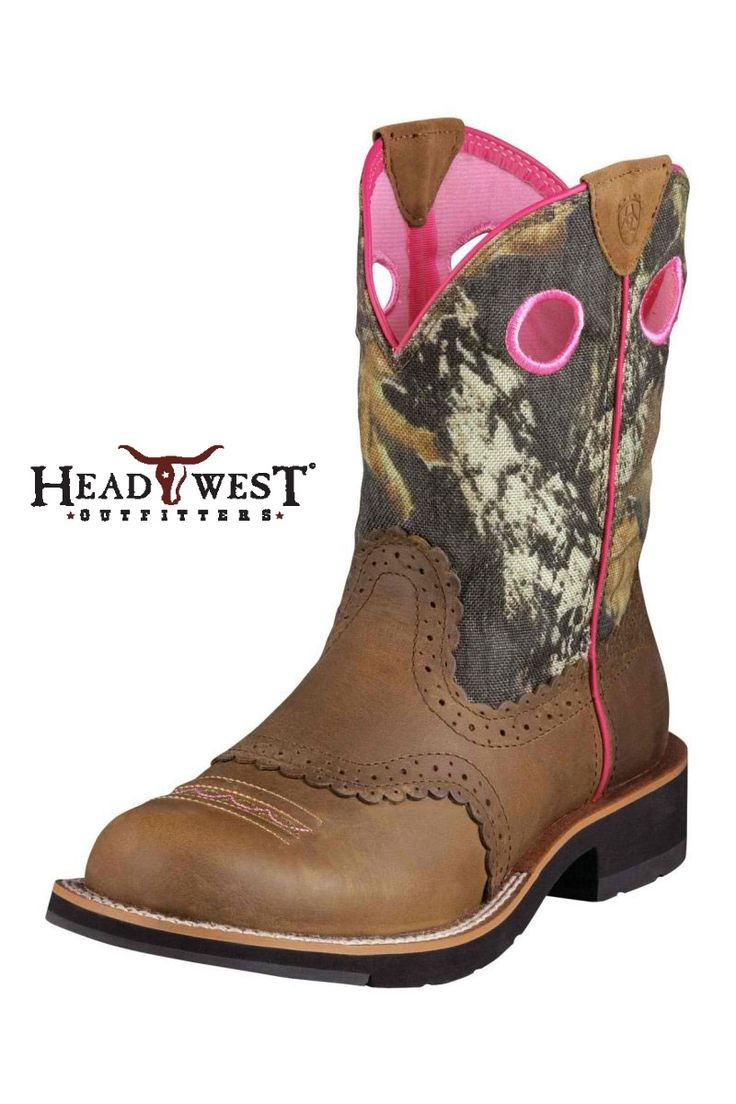 Ariat Fatbaby Mossy Oak Camo Cowgirl Boots