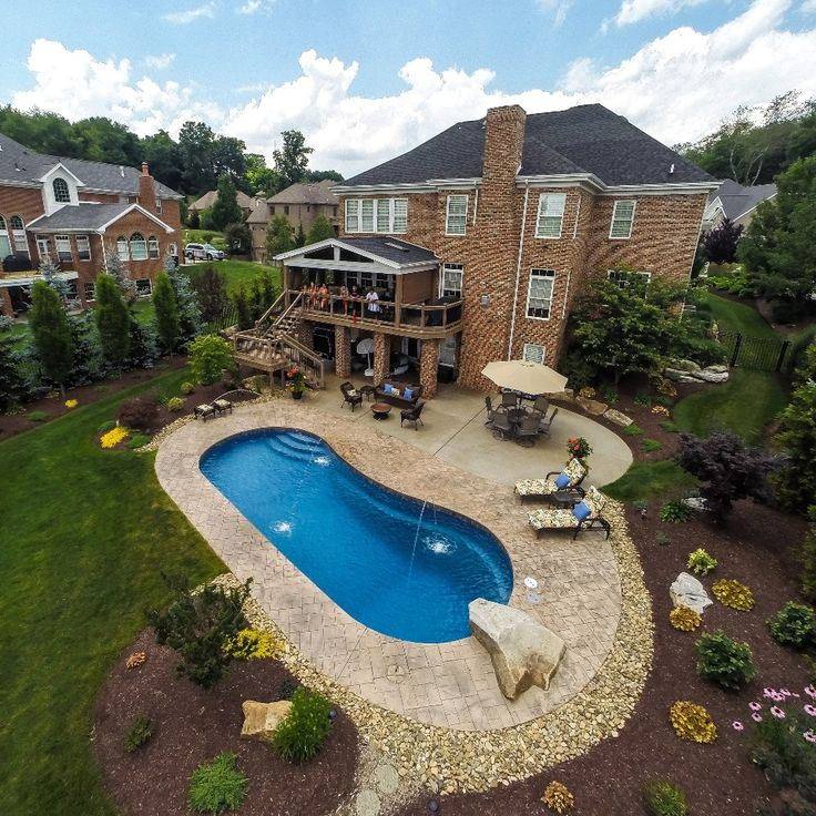 33 Best 8' Depth Fiberglass Pools Images By Tallman Pools