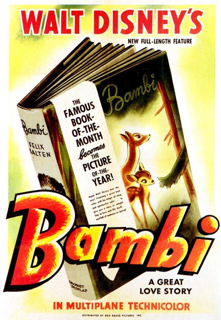 Bambi (1942)    Poster asli    LEGACY 1   oleh NABIL BAKRI  referensi utama: Bambi(film), dokumenter di balik layar pembuatan Bambi(Home V...