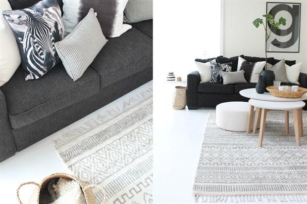 Neutralidad y calidez son dos de las características de esta alfombra de motivos y tonos suaves.  /Idylloghim.blogspot.com.es