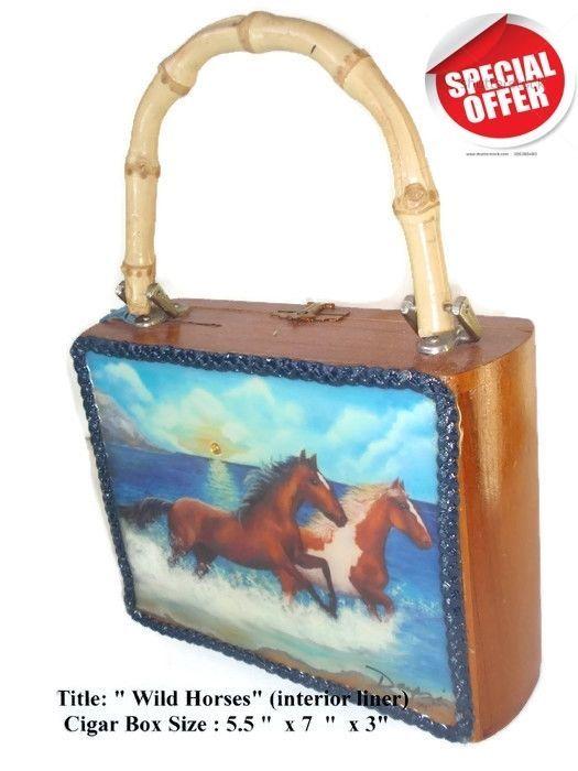 "On Sale!. Cigar Box Purse w/ Cuban artworks on top ""Wild Horse"". Best Art  | eBay"