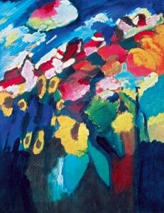 Wassily Kandinsky. Murnau The Garden II, 1910