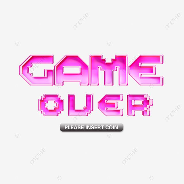 Pink Neon Game Over Font Game Pixel Style Color Fashion Letter Png Transparent Clipart Image And Psd File For Free Download In 2020 Neon Pink Lettering Clip Art