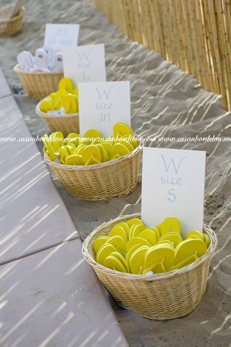 ideas for beach wedding party favors%0A beach wedding dancing shoes flip flops