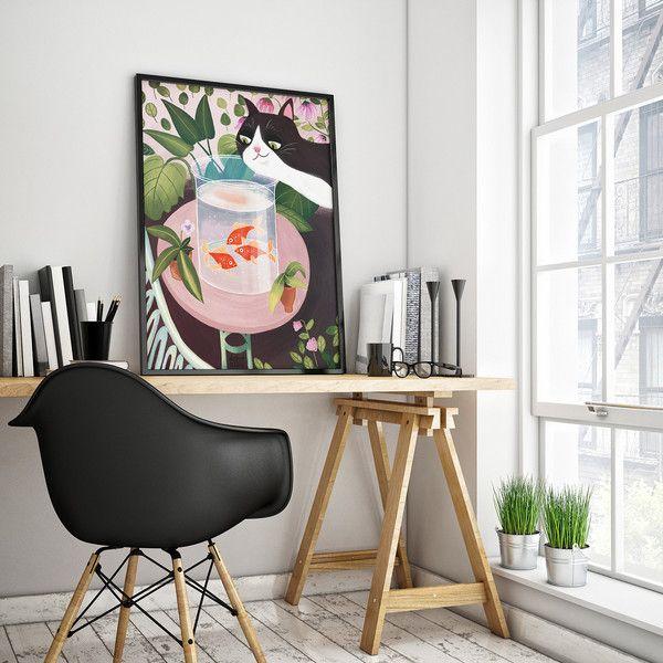 ZŁOTE RYBKI plakat 50x70  - DobreSztuki - Wydruki cyfrowe