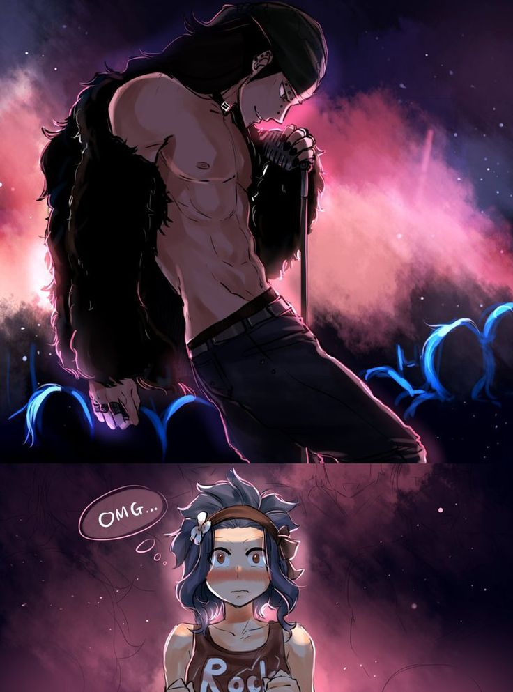 Concert by blanania on DeviantArt I LOVE band!Gajeel. Gajeel in general is growing on me too.