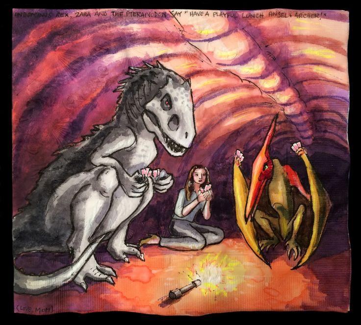 Card Game Inside Jurassic World's Mosasaurus