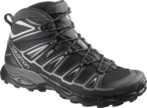 Salomon X ULTRA MID 2 GTX BLACK BLACK Aluminum Salomon Hiking Boot - 1