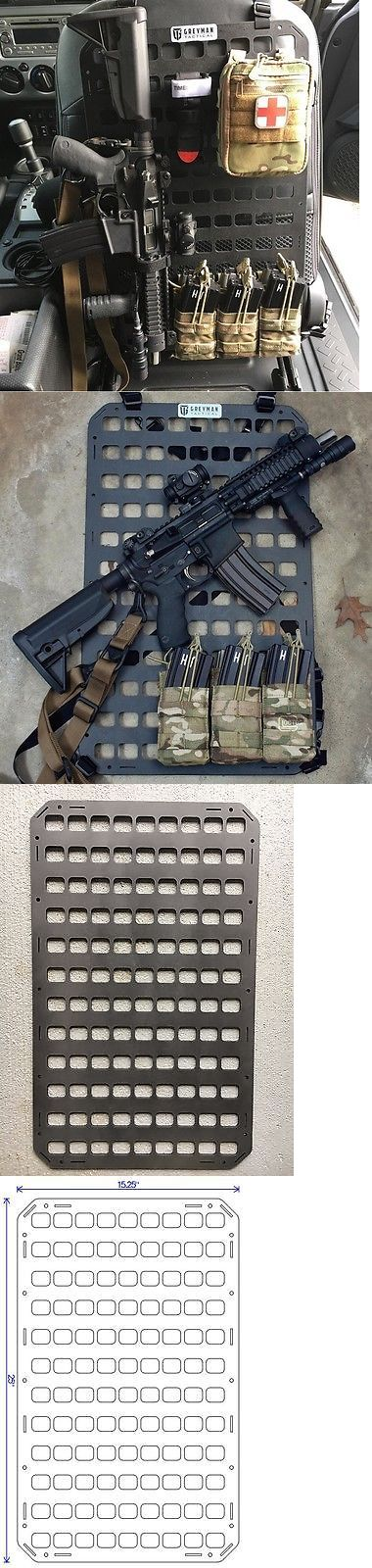Tactical Molle Pouches 177900: Rigid Molle Panel (Rip-M) 15.25In X 25In Vehicle Seat Back, Safe, Pelican Case BUY IT NOW ONLY: $110.0