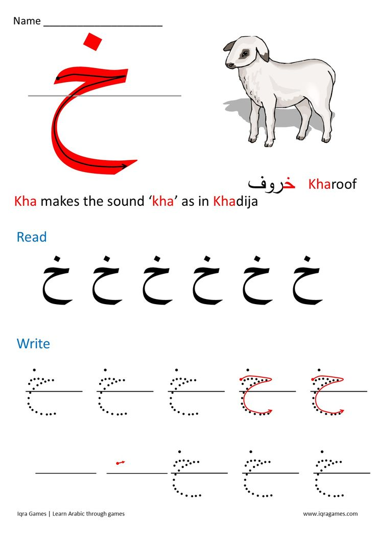 how to write letter a in arabic