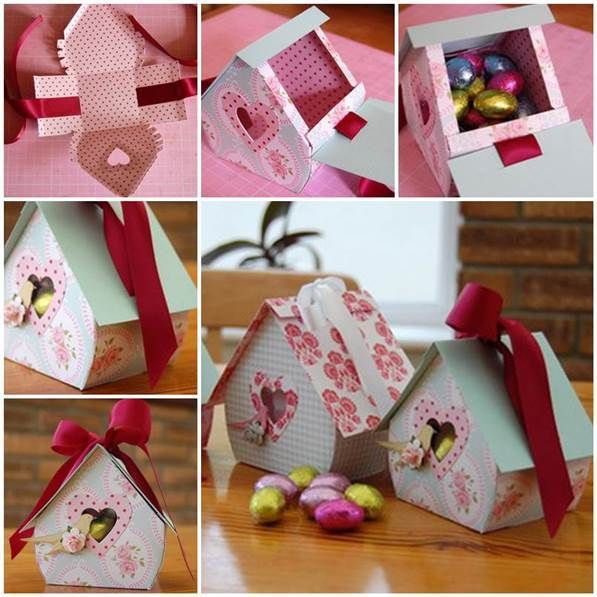 DIY Bird Nest Gift Box #craft #Easter #gift_box
