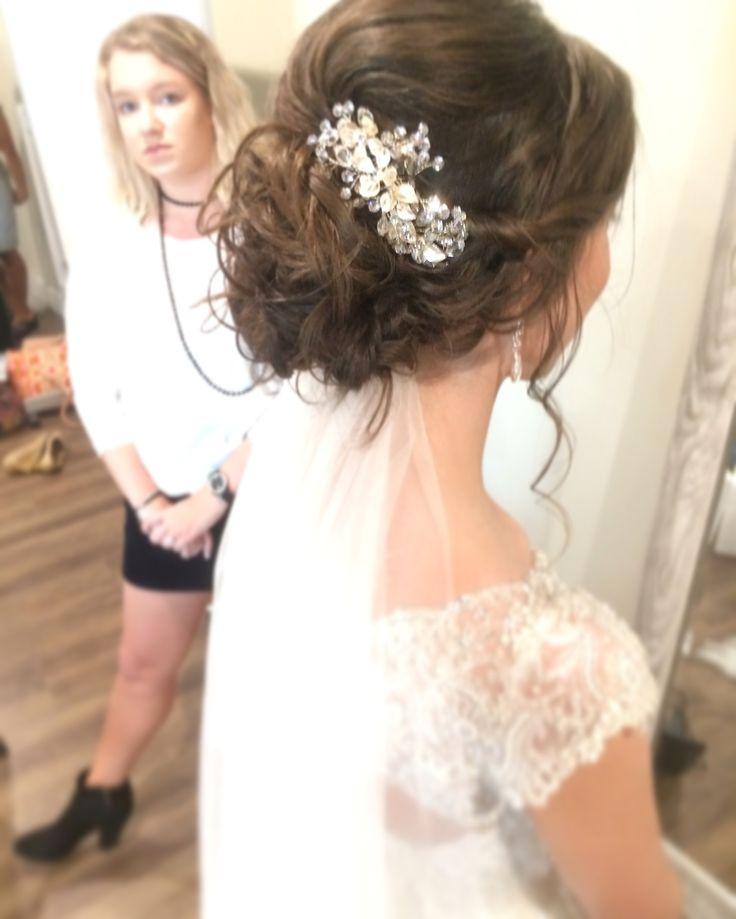 Hochsteckfrisur für die Hochzeit von Char || Füge mich auf IG @madeupandcuttinup hinzu – Haare