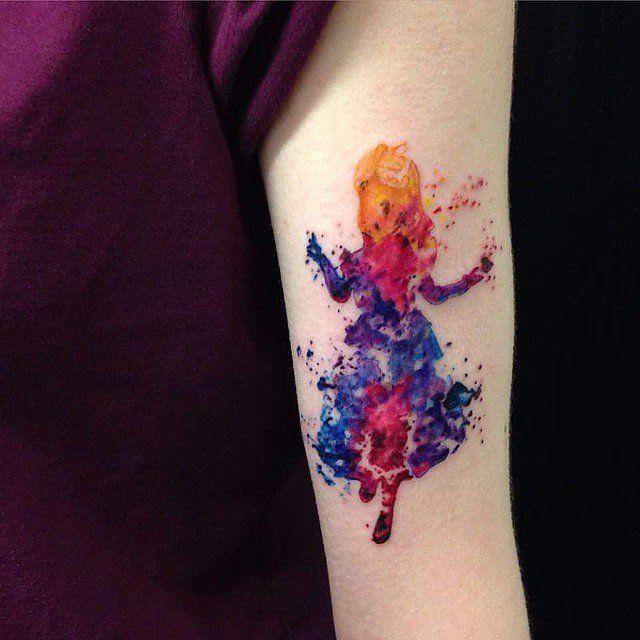 Disney-Prinzessinnen-Tattoo Prinzessinentattoo and Disney-Prinzessin ...
