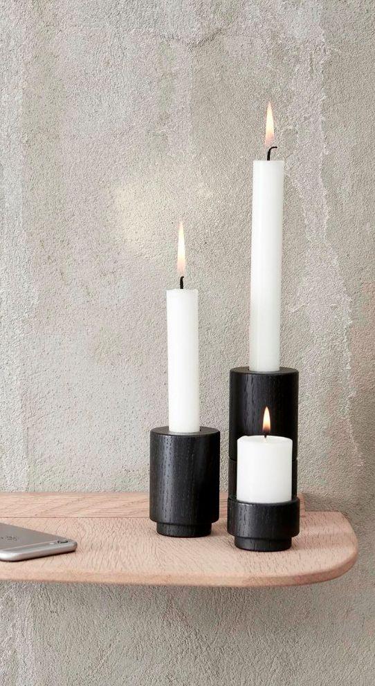 Flotte lysestager fra Andersen #inspirationdk #Andersen #danskdesign #DanishDesign #wood #Inspirationonline