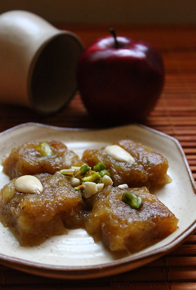 apple halwa: easy apple halwa, apple halwa recipe
