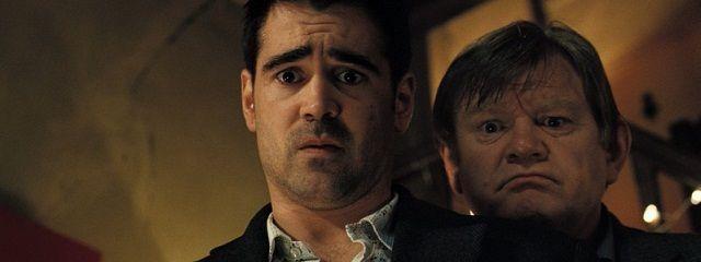 In Bruges. Colin Farrell & Brendan Gleeson.