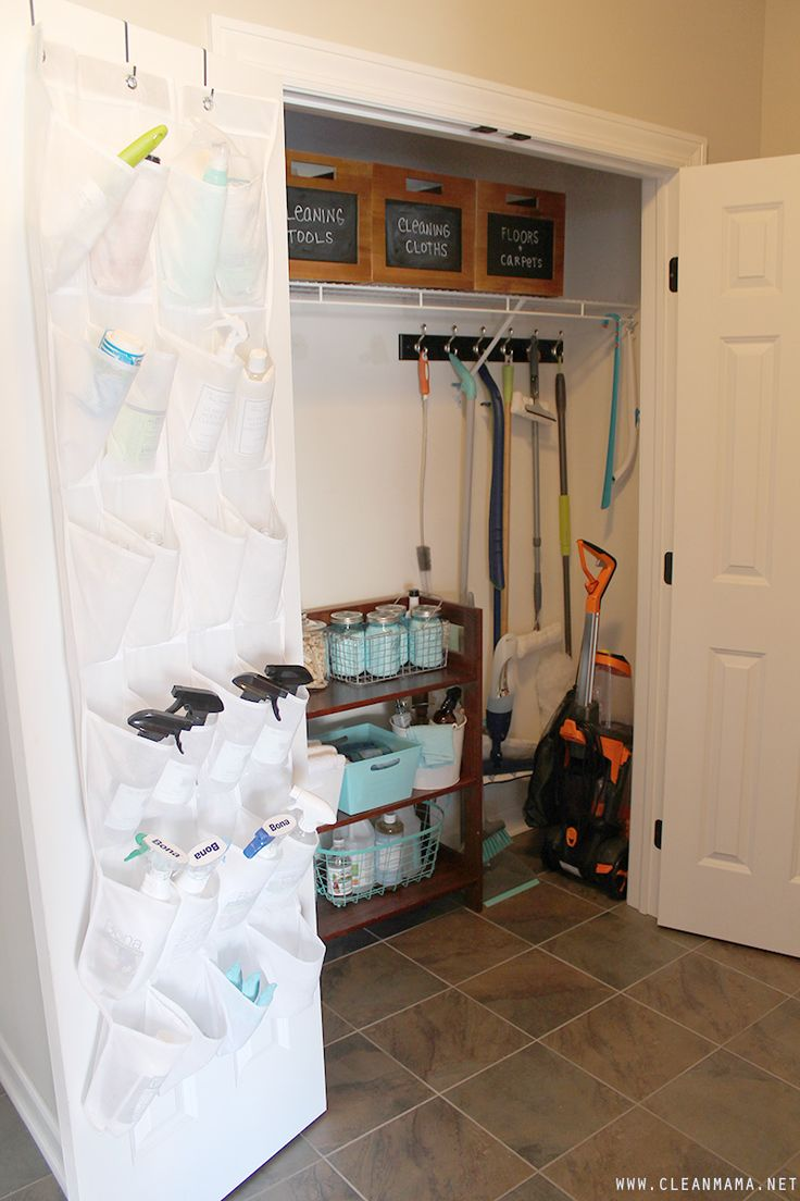 Love This Cleaning Closet Organization!