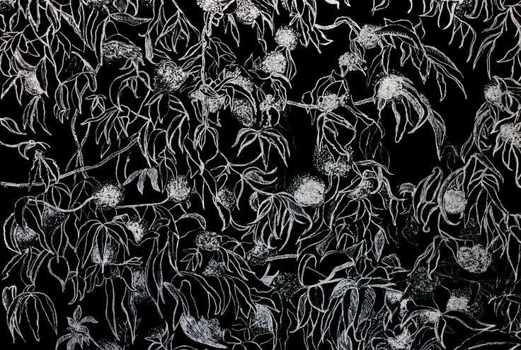#graphic #print #maple #leaves #ink #whiteink #drawing #design #nature #trees #дизайн #принт #напринт #деревья #листья #листьядеревьев #белыечернила #черныйкартон #графика #black #blackcardboard #cardboard