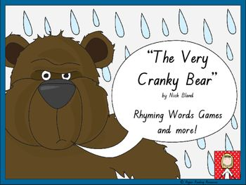 """Rhyming words game cards are included with four rhyming words game instructions for """"The Very Cranky Bear"""" by Nick Bland.  There are also three different 'twists' in one of the rhyming words games using the sheep, lion and zebra cards for players to either lose their cards, miss a go or have another turn.Also included in this resource are two different bookmarks (10 copies of each per page) and two other bookmarks (5 per page) to promote reading."""