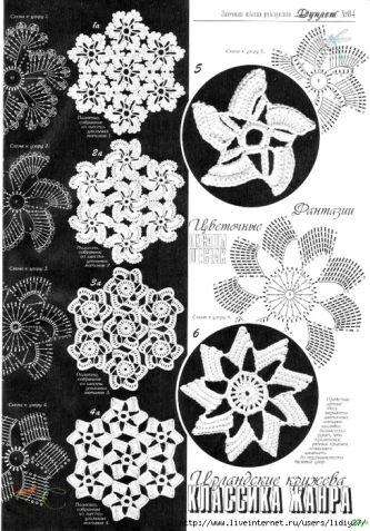 Ирландское кружево (из интернета) часть 3 / Вязание крючком / Женская одежда крючком. Схемы.