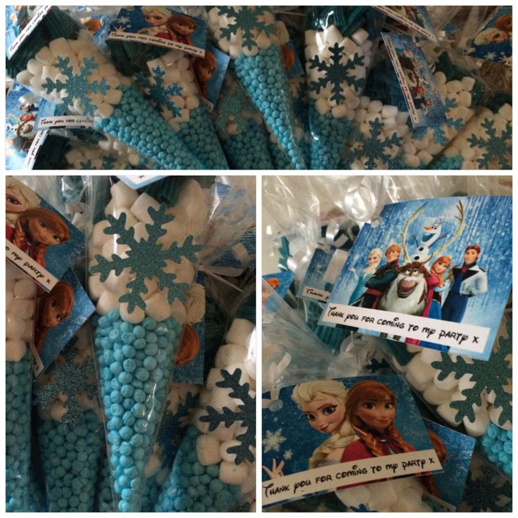 Disney frozen sweet cone, frozen party bag ideas