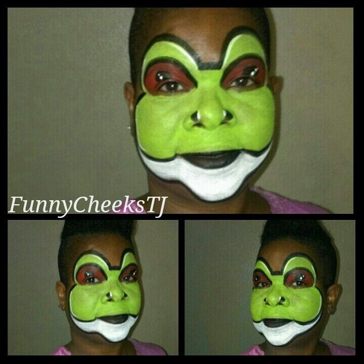 Frog face painting by FunnyCheeksTJ
