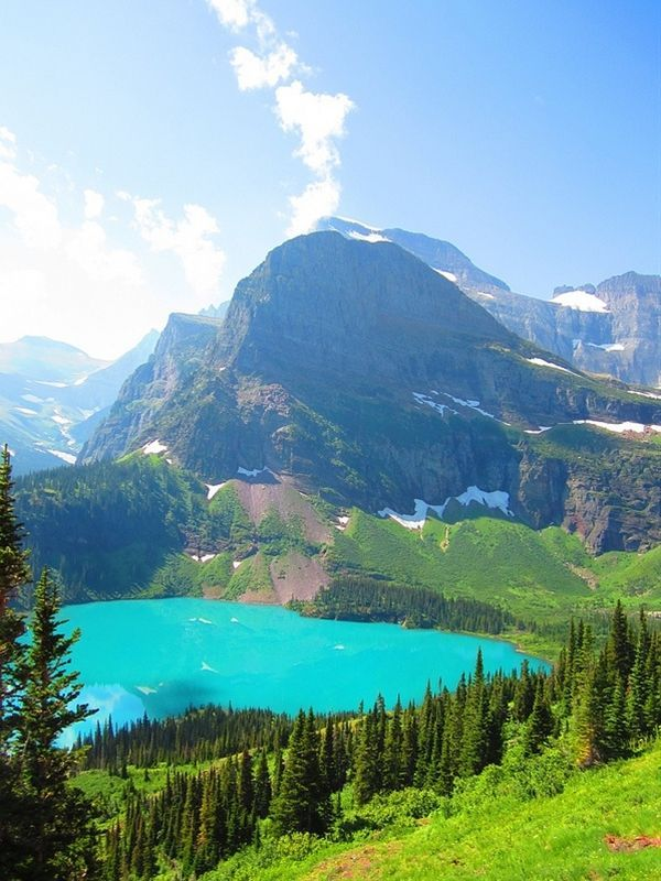 One of the most spectacular places in the USA. Grinnell Lake,Glacier National Park – Montana, USA