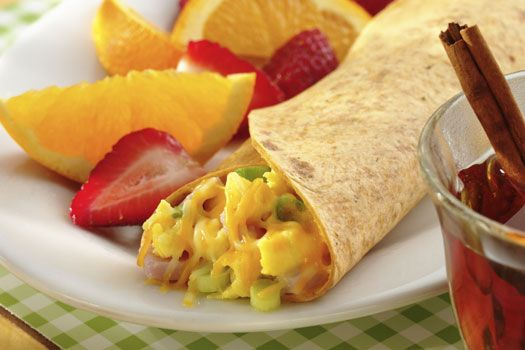 Add some kick to your breakfast with our light style breakfast wrap.