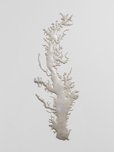Maya Lin • Silver Chesapeake. courtesy Pace Gallery / Photo by Juerg Isler Photography
