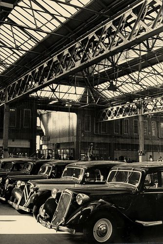Back in time by Zozu9, via Flickr - Citroens in old factory