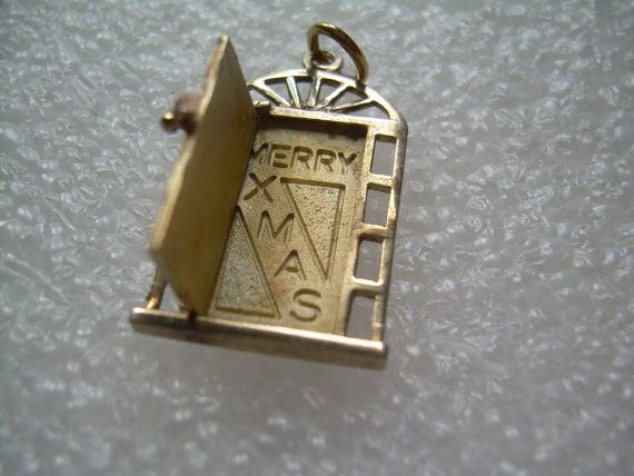 Merry Xmas Door Charm PendantVintage By CougarCoveFineGifts, $55.00