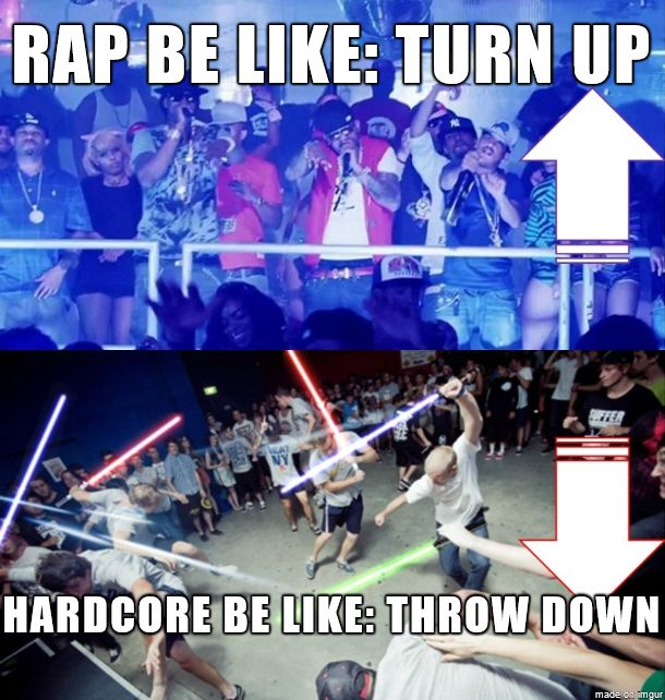 Gvng$ta rap musik vs. Hardcoer screamo music...