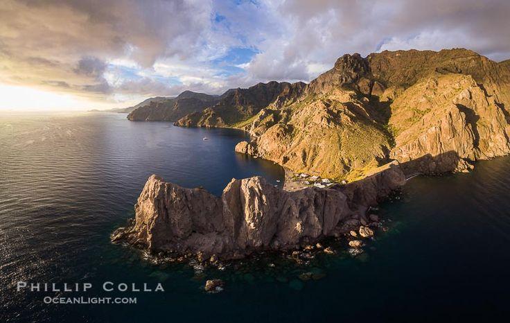 Punta Alta et La Cueva, Basse-Californie, mer de Cortez, photographie aérienne