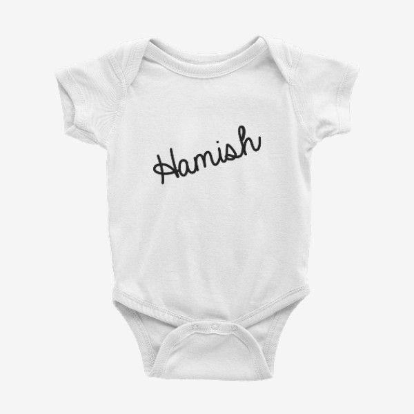 Personalised Script Name Baby Bodysuit (various colours)