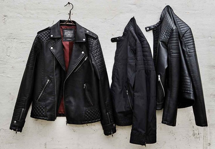Lightweight material and leather jackets for a badass biker look | JACK & JONES