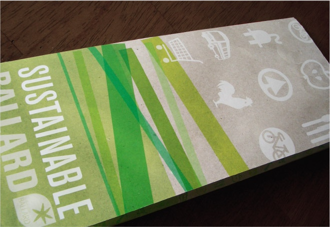 Sustainable Ballard Brochure 2009 - the bar has been set high! I will be doing freelance work to create a new brochure for 2012.: Brochures 2009, Freelance Work, Ballard Brochures, S'More Bar, I Will, Prints, The Roller Coasters