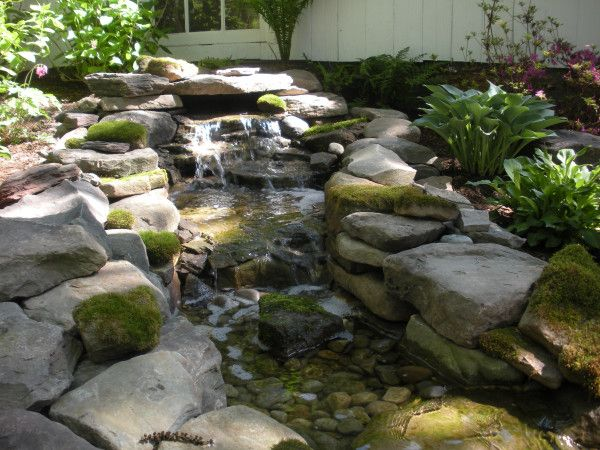 Leydon Landscaping Small Pond Waterfall The Great