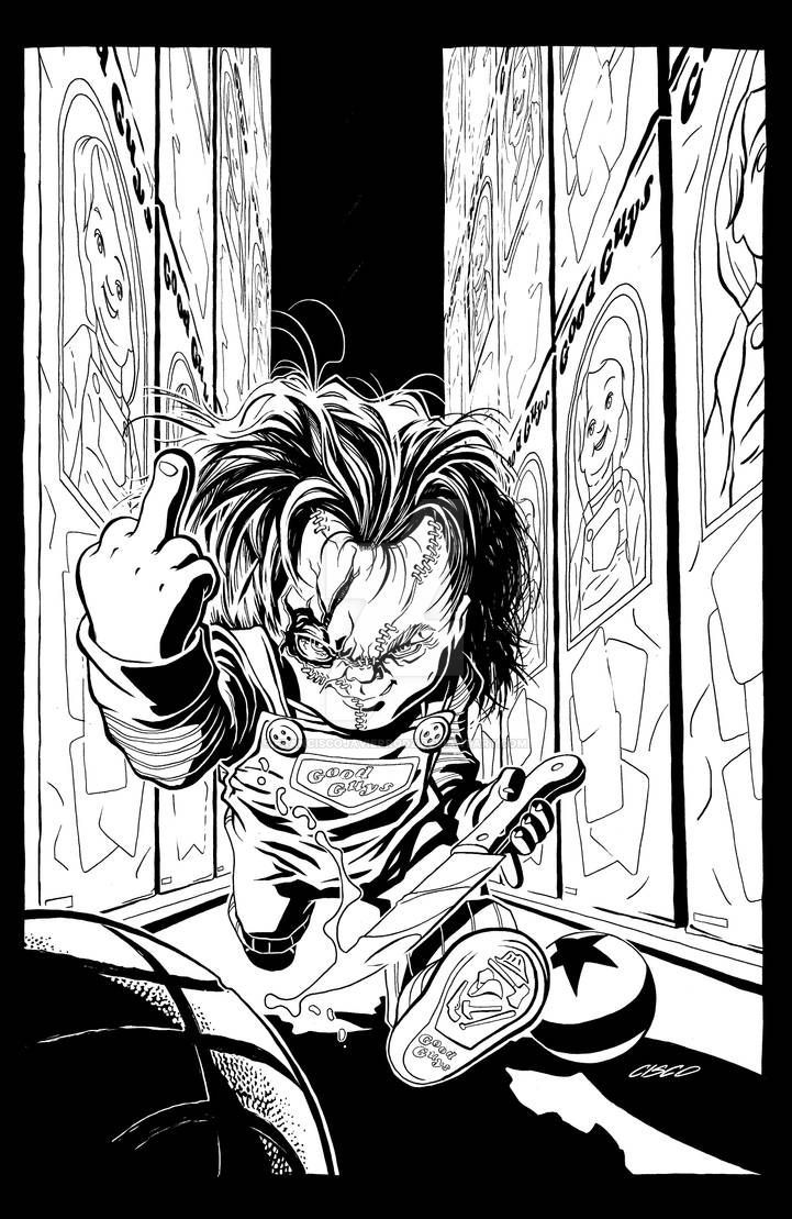 Heeeeere S Chucky By Franciscojavierrodz On Deviantart Horror Artwork Horror Movie Art Badass Drawings