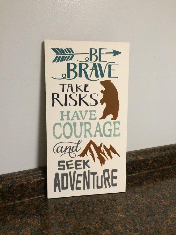 be brave bear nursery arrow nursery outdoors by JessieAnnCreations