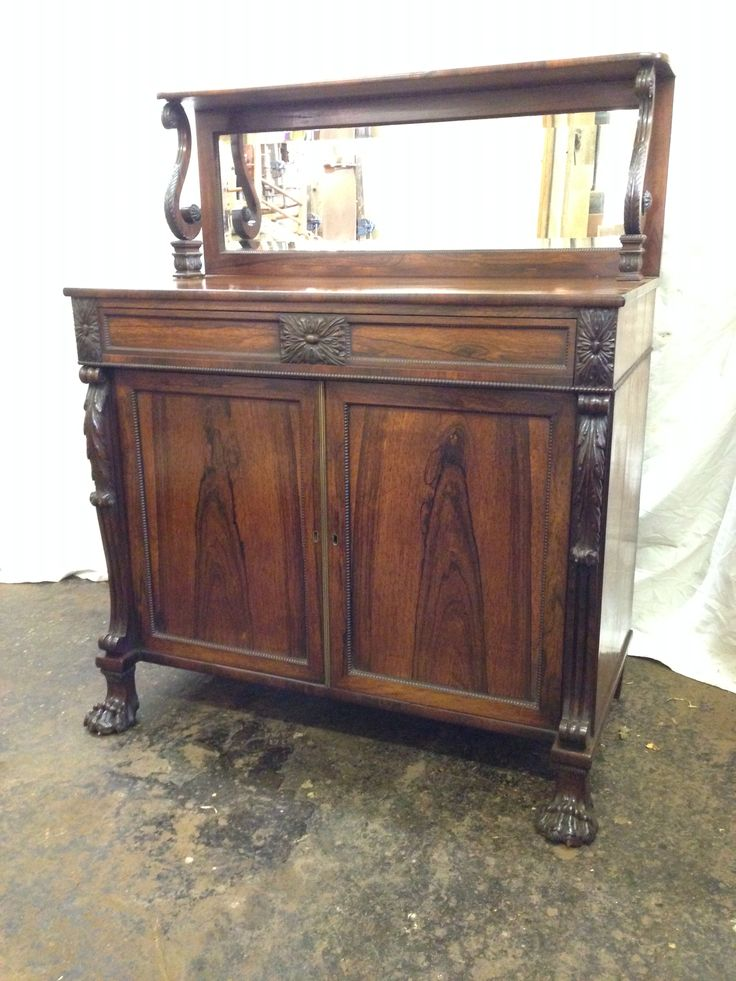 Antique Regency rosewood chiffonier  Nice quality sideboard with lovely carvings