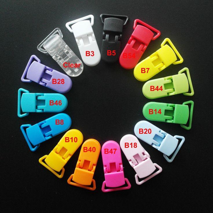 100 шт. Mix 15 цвета кам пластиковые соску клипов / подтяжк клипы с само захвата зубов для бинки / пачи / соску / нагрудник / игрушки держатель клип купить на AliExpress