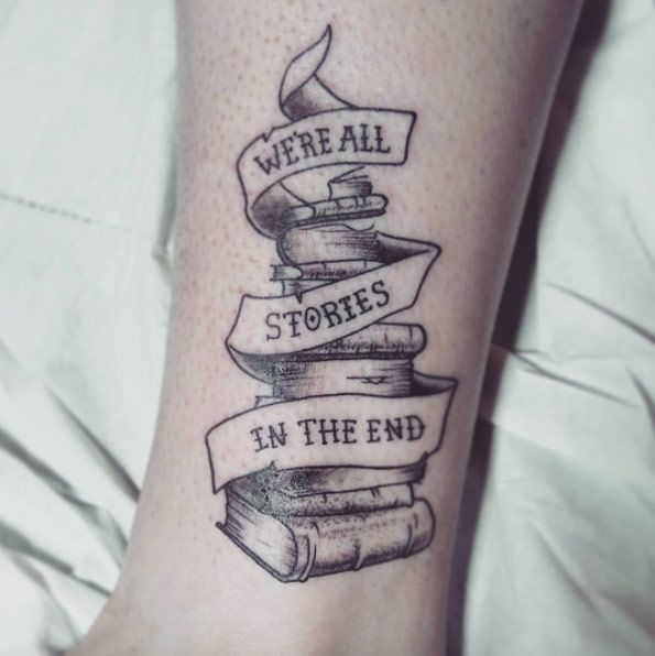 Book Tattoo Design by Alex M Krofchak