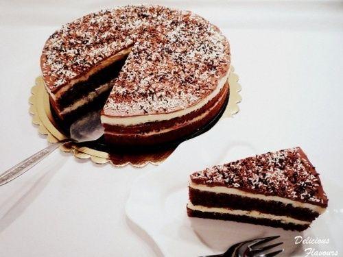 Tort cu crema de lapte si ciocolata - imagine 1 mare