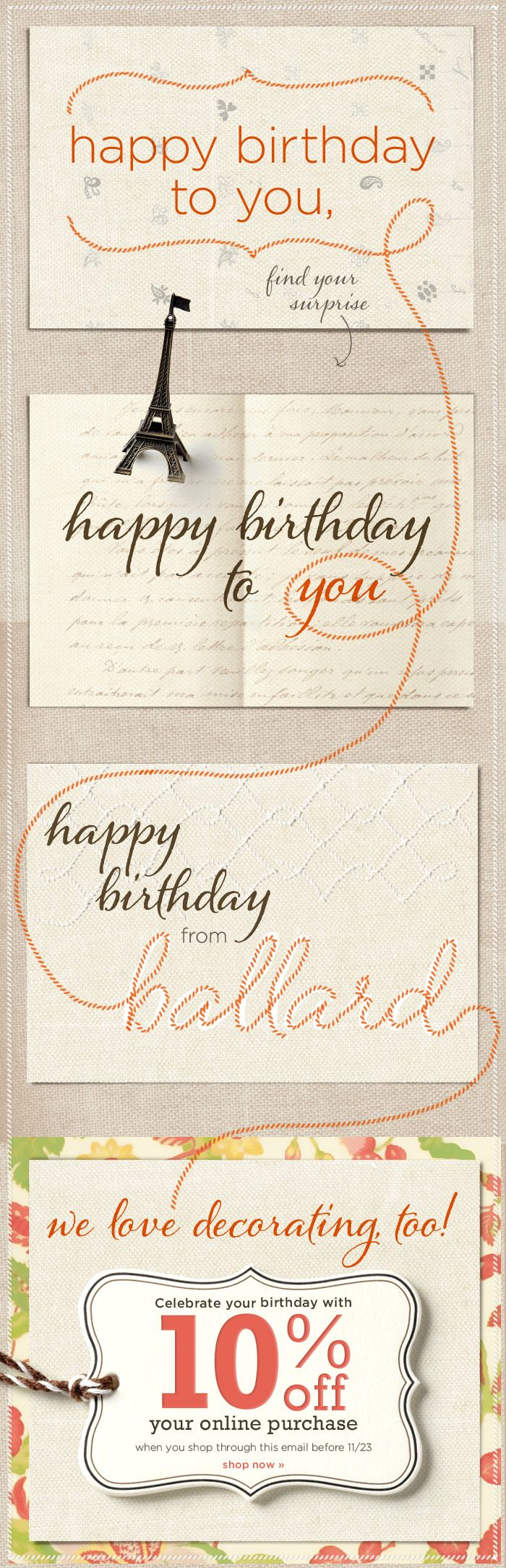 scrollable birthday email Ballard.
