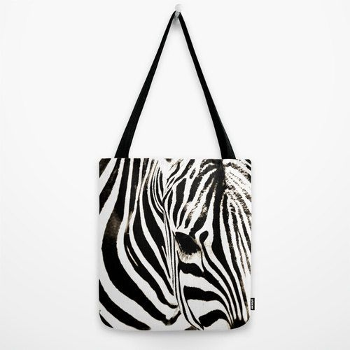 Black and White Tote Bag, Zebra Bag, Striped Tote Bag, Animal Photography, Unique Tote Bags - pinned by pin4etsy.com