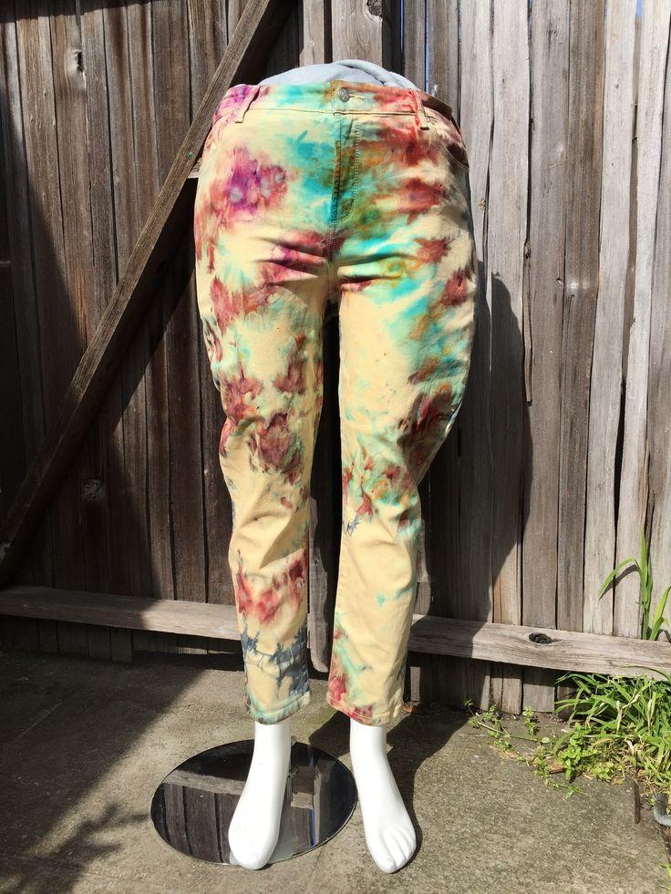 Sun Burst Shibori Tie Dye Jeans by Sage Luxury